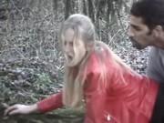 Трахнул блонду раком в лесу